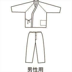 神戸生絲 パジャマ型ねまき紳士 L 秋冬 ブルー 男性用 介護用