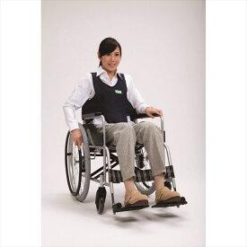 フットマーク 車いす用ワンタッチベルトキーパーEXネイビー ベルトなし 403655 綿100% 車椅子での姿勢保持