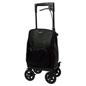 島製作所 メロディプリモ 右用 メッシュBK ショッピングカート 4輪 保冷バッグ 手押し車 高齢者 老人 おしゃれ
