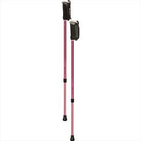 シナノ そふと安心2本杖 ピンク 125558 柔らかいグリップで快適歩行 ウォーキングポール