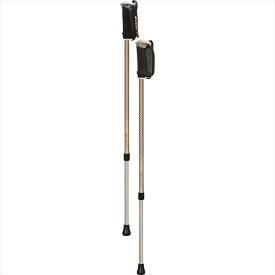 シナノ そふと安心2本杖 ベージュ 125559 柔らかいグリップで快適歩行 ウォーキングポール