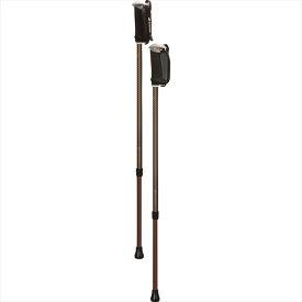 シナノ そふと安心2本杖 ブラウン 125557 柔らかいグリップで快適歩行 ウォーキングポール