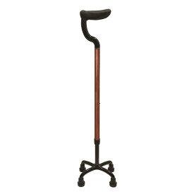島製作所 カーボン四点式 杖 フラットグリップ ローズウッド 79C-W1 4点接地可能な杖 高齢者 老人 介護 ステッキ【取寄】