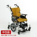 【中古】 松永製作所 ネクストコア くるり NEXT-80B オレンジ F-1 介助 介助式 低床 40幅 40 車椅子 車いす 【代引不…