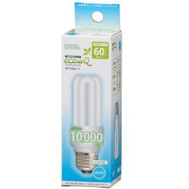 ☆オーム電機 電球形蛍光灯(蛍光ランプ) D形 エコデンキュウ 60形(60W形) 3波長形昼光色 E26口金 EFD15ED11