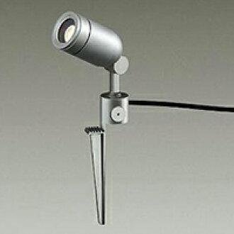☆附带DAIKO LED照明器具户外聚光灯钉鞋式daikuroharogen 50W型电灯色LED电灯的配光20°插塞付防雨形本体色:银子DOL3763YSF