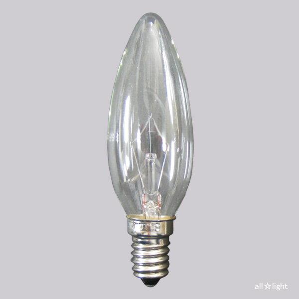 ☆TOZAI シャンデリア電球(海外口金) E14口金段付き クリヤー 25W C32E14C110V25W