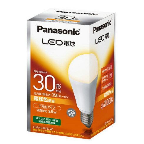 ☆パナソニック LED電球 一般電球タイプ 3.5W 下方向タイプ E26口金 電球色相当 電球30W形相当 350lm LDA4LHEW≪特別限定セール≫ ≪あす楽対応商品≫