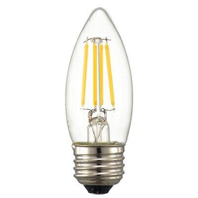 ☆オーム電機 LEDフィラメントタイプ電球 シャンデリア球形 クリアタイプ シャンデリア球40W相当 電球色 消費電力4.0W 全光束440lm E26口金 全方向タイプ LDC4LC6