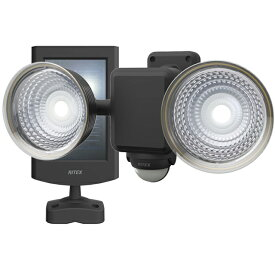 ☆ムサシ RITEX ソーラーセンサーライト LED 人感センサー内蔵 防雨形 1.3W×2灯 フリーアーム式 S25L