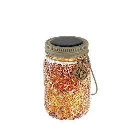 キシマ ボトル型ソーラーガーデンライト エトワル/ETOILE 瓶型 モザイクガラスタイプ アンバーシャイン/AmberShine 屋外用 ソーラー充電 KL10356