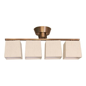 ディクラッセ シーリングライト デンテ フラット4 シーリングランプ/Dente flat4 ceiling lamp 本体色:ベージュ ランプ付き(E26口金 60W 白熱G70ボール球(ホワイト)×4) 引掛けシーリング