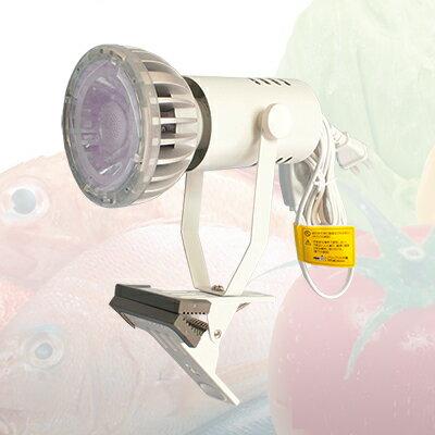☆OKAMURA スポットライトバリューセット クリップライト  食品用照明 LEDランプ エコ之助 BIG 精肉・鮮魚用 (110Vハロゲンランプ85W相当)+クリップライト LDR15LM(精肉・鮮魚用) +Y07CLX25X02WH