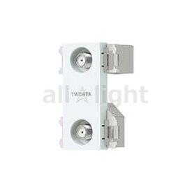 パナソニック コスモシリーズワイド21 埋込高シールドテレビターミナル 2端子タイプ(フィルタ付) F型接栓同梱(1個) 新4K8K衛星放送対応(10〜3224MHz) ホワイト WCS3624W