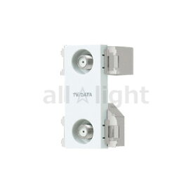 パナソニック アドバンスシリーズ配線器具 埋込高シールドテレビターミナル 2端子タイプ(フィルタ付) F型接栓同梱(1個) 10〜2602MHz対応 セラミックホワイト WCS3650CWK