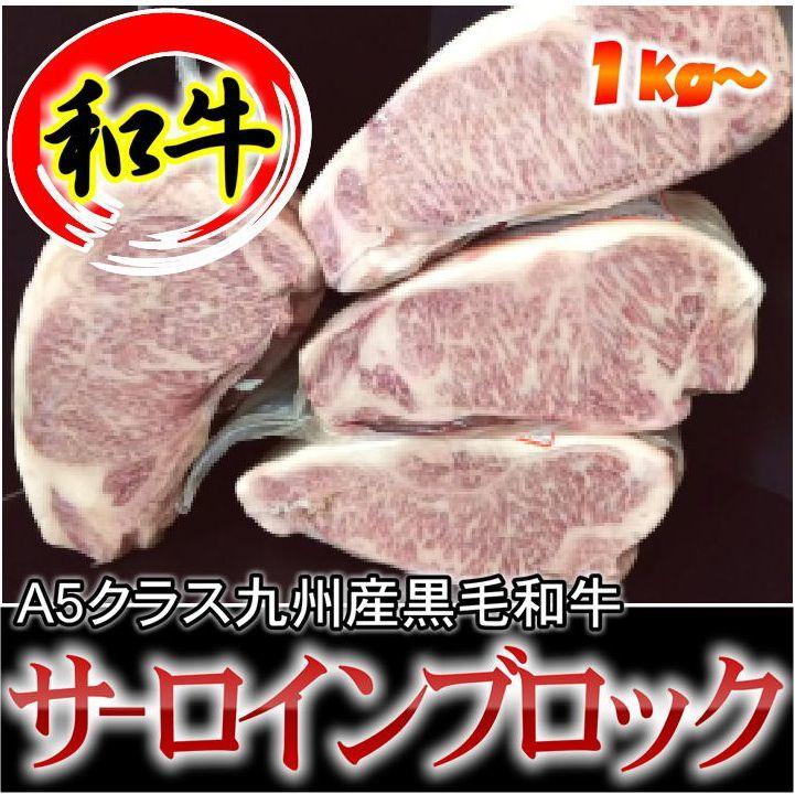 スーパーSALE延長中【九州産黒毛和牛】【量り売り・表示1kg単価】A5サーロインブロック ブロック肉 かたまり