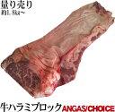 特選牛上ハラミブロック ブラックアンガス/チョイス アウトサイドスカート 量り売り 1パック約2kgだと6600円税別…