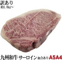 格安A5等級九州産ブランド黒毛和牛サーロインブロック量り売り約0.8〜1.2kg