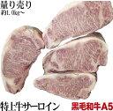 SALE延長中 九州産黒毛和牛A5等級 量り売り A5サーロインブロック 約1〜1.5kg ブロック肉 かたまり
