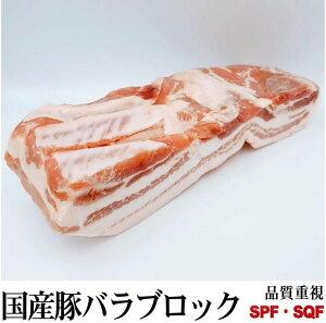 国産豚バラブロック 鮮度重視 真空パック 量り売り 約800g〜 九州産
