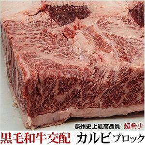 業務用 黒毛牛交配種 塊肉 特選牛カルビブロック  量り売り 約4kg前後 超高品質【冷凍】