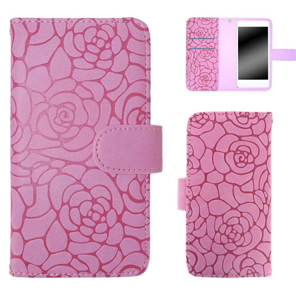 HTC U12+ ケース スマホケース 手帳型 レディース かわいい 携帯 花 フラワー マグネットベルト ツバキ Camellia オーダー カメリアエンボス AM_OD_LL