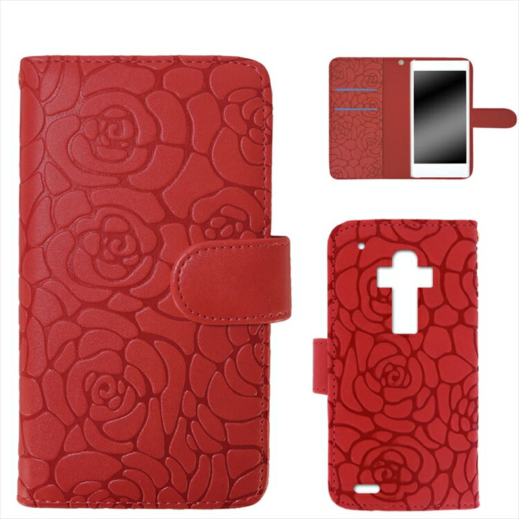 Disney Mobile docomo DM-01G ケース スマホケース 手帳型 カバー レディース かわいい 携帯カバー 花 フラワー マグネットベルト ストラップ ツバキ Camellia オーダー カメリアエンボス