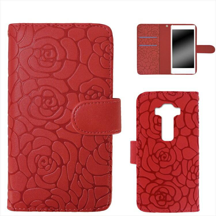 ZenFone 3 ZE552KL ケース スマホケース 手帳型 カバー レディース かわいい 携帯カバー 花 フラワー マグネットベルト ストラップ ツバキ Camellia オーダー カメリアエンボス