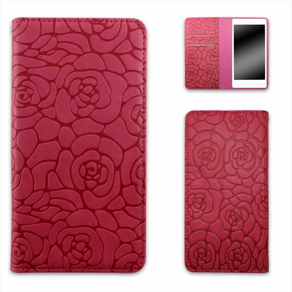 HTC U12+ ケース スマホケース 手帳型 ベルトなしタイプ マグネット ストラップ カード オーダー ベルトなし カメリアエンボス AM_OD_LL