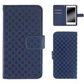 Xperia XZ1 SOV36 ケース スマホケース エクスペリア エックスゼットワン 手帳型 市松模様 手帳型 ストラップ マグネット ベルト付き カバー オーダー 市松柄 AM_OD_L