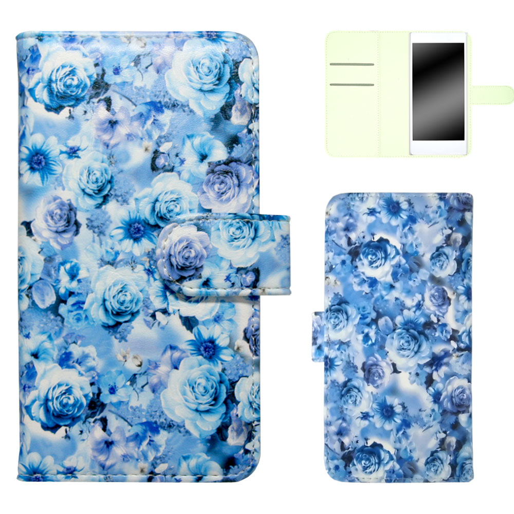 ZenFone 4 Selfie ZD553KL ケース カバー スマホケース 手帳型 バラ模様 花柄 おしゃれ スタンド ベルト付き オーダー バラ柄 AM_OD_L
