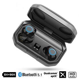 Bluetooth イヤホン ワイヤレス イヤホン 瞬時接続 LEDディスプレイ電量表示 Hi-Fi高音質 最160時間待ち受け 8.0ノイズキャンセリング&AAC対応 両耳 左右分離型 自動ペアリング ブルートゥース
