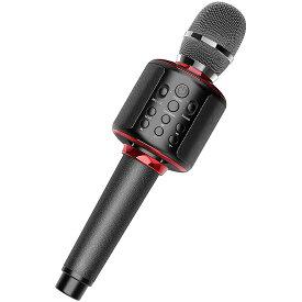 カラオケマイク 家庭用 ワイヤレス マイク カラオケセット スピーカー bluetooth/usb/スマホ連動 ポータブルスピーカー 高音質/音楽再生/ノイズキャンセリング LEDライト付き 大容量 軽量