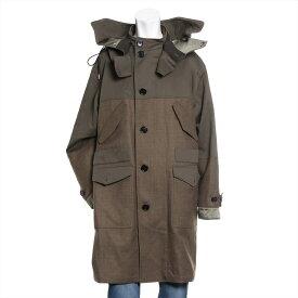 【中古】ベルルッティ ウール ロングコート サイズ54 メンズ グリーン