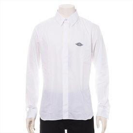 【中古】ディオール×ナイキ 20SS コットン シャツ 41 メンズ ホワイト AIR DIOR M Woven Shirt