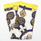 【中古】エルメス カレ90 Cuivreries 銅細工 スカーフ ウール×シルク イエロー
