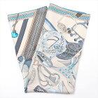 【中古】エルメス カレ90 Concours d'etriers エトリエの競演 スカーフ シルク ブルー