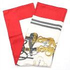 【中古】エルメス カレ90 BRIDES de GALA 式典用馬勒 スカーフ シルク レッド