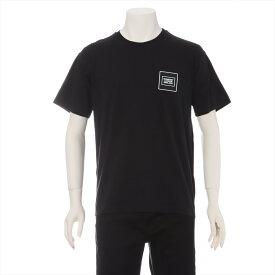 【中古】バーバリー コットン Tシャツ XS メンズ ブラック ロゴプレート