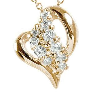 送料無料 ダイヤモンド ネックレス k18ピンクゴールド k18PG ハート ペンダント 0 20ct 星 スター チャーム プレゼント ギフト 4月 誕生石