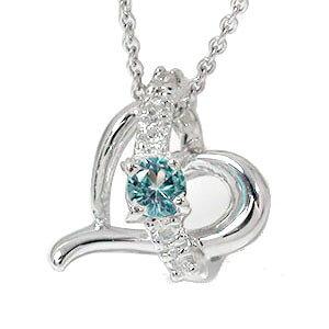 送料無料 ブルートパーズ ハートネックレス k18ホワイトゴールド ダイヤモンド 流れ星 スター チャーム レディース 誕生日 2021 記念日 プレゼント エトワール 11月 誕生石