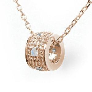 ネックレス ブルームーンストーン 千の粒 バレル モチーフ 18金 ミルグレイン 誕生石 ダイヤモンド カラーストーン プチペンダント 送料無料 キャッシュレス ポイント還元