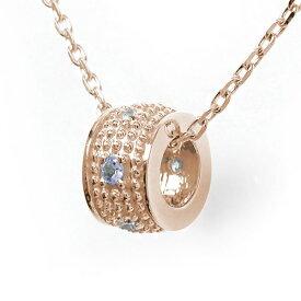ネックレス タンザナイト 千の粒 バレル モチーフ 18金 ミルグレイン 誕生石 ダイヤモンド カラーストーン プチペンダント 送料無料 キャッシュレス ポイント還元