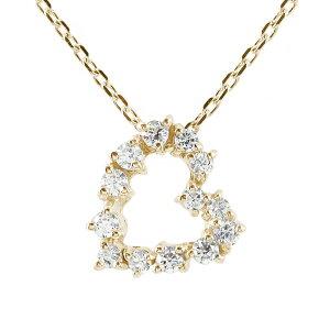 ハート ネックレス ダイヤモンド 10金 プチペンダントチャーム送料無料 母の日 花以外