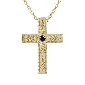 ネックレス インディアン 10金 ネックレス ダイヤモンド ブラックダイヤモンド クロス 十字架 美しい羽根 羽 フェザー メンズ k10 10k ゴールド ペンダント ジュエリー 送料無料 キャッシュレス ポイント還元
