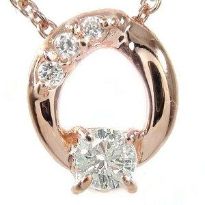 【送料無料】ダイヤモンド ネックレス チャーム k18ピンクゴールド k18PG オーバル ギフト 贈り物プレゼント プレゼント 自分へのご褒美に 大切な方に 4月 誕生石