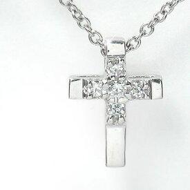 クロス ネックレス ダイヤモンド シルバー925 レディース ユニセックス 誕生日 2019 記念日 贈り物 母の日 プレゼント ギフト Lustre リュストル 4月 誕生石