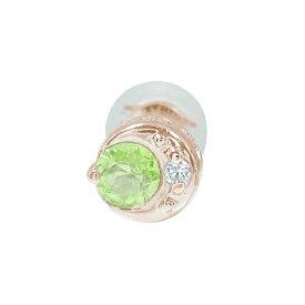 【ポイント5倍】9日20時〜16日1時まで 月 太陽 地球 片耳ピアス 18金 ペリドット 誕生石 買いまわり 買い回り