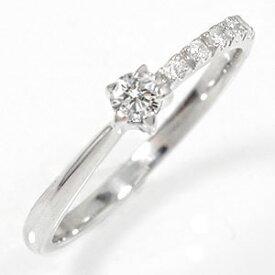 結婚指輪・婚約指輪 プラチナリング 流れ星 ダイヤモンド 指輪 ピンキーリング 送料無料