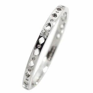エタニティーリング ひし形 プラチナ900 ダイヤモンド ピンキーリング 指輪【送料無料】
